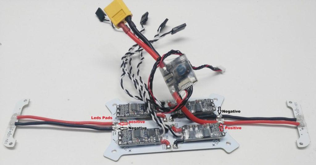 Solder LEDS to QAV250 PDB