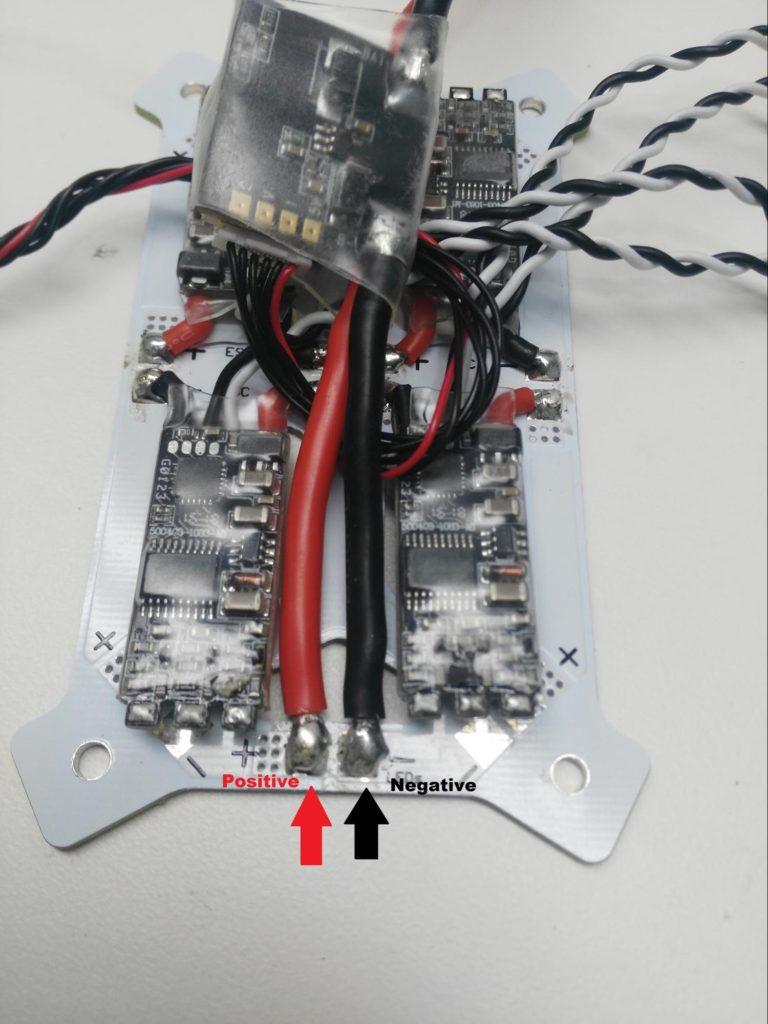 Solder power module to QAV250 pdb